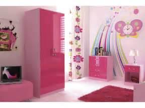 pink girl kids bedroom ottawa high gloss pink  piece girls bedroom furniture set