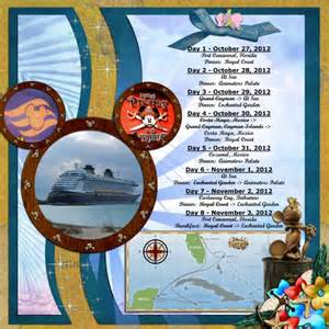 disney itinerary template disney cruise itinerary 10 2012 mousescrappers