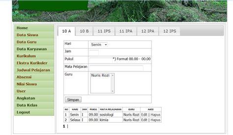 Source Code Website Profil Sekolah Dengan Php Mysql source code aplikasi siakad sekolah menggunakan php mysql