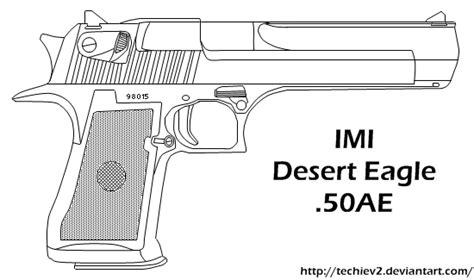 Desert Eagle Outline by Desert Eagle 50ae By Techiev2 On Deviantart