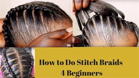 stitch braids  beginners youtube