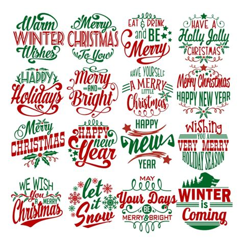 christmas wishes pack cuttable design