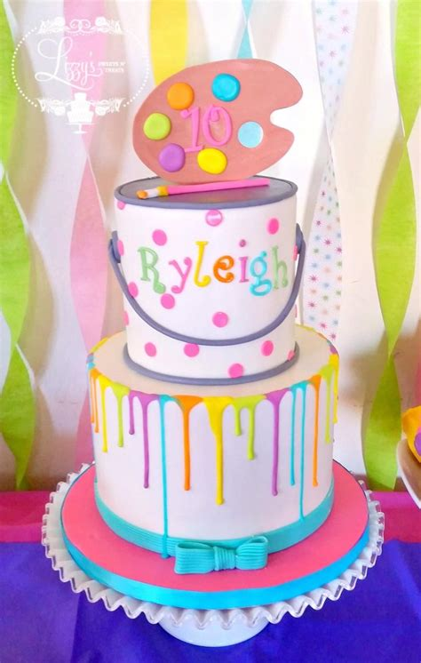 themed birthday cake recipes paint themed cake www pixshark com images galleries