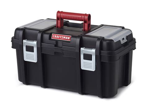 craftsman 16 inch tool box with tray black