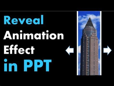 tutorial powerpoint animation powerpoint animation tutorial reveal effect with moving