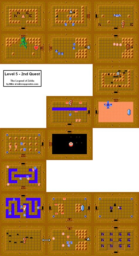 legend of zelda map quest 2 overworld mike s rpg center the legend of zelda