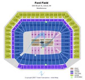 Ford Field Seat Map Seating Chart Ford Field Ford Field Seating Chart