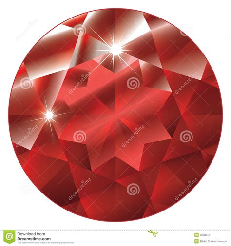 Ruby Birthstone Of July 2 by July Birthstone Ruby Stock Vector Image Of Isolated