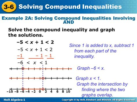 inequality and the 1 objectives solve compound inequalities with one variable ppt download