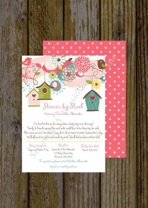 baby shower by mail invitations shower by mail invitation distance by