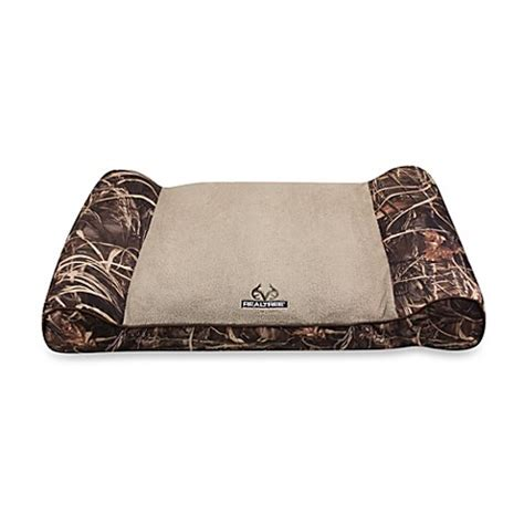 camo dog beds realtree 174 max 4 camo giant pet bed in brown bed bath