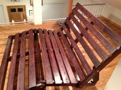 custom made futons custom chaise lounger futon frame by emerald city crafts