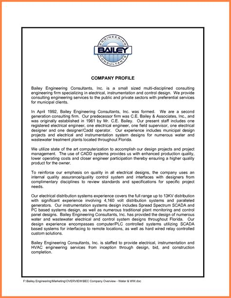 firm template 8 engineering company profile sle company letterhead