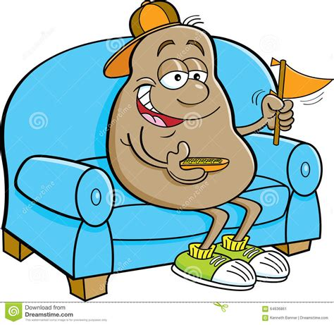 couch potato cartoon with my running shoes on the sofa thinking out loud
