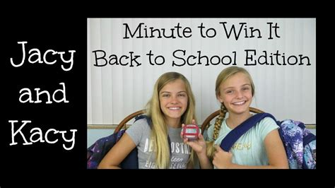 minute to win it challenges to do at home minute to win it challenge back to school edition 2015