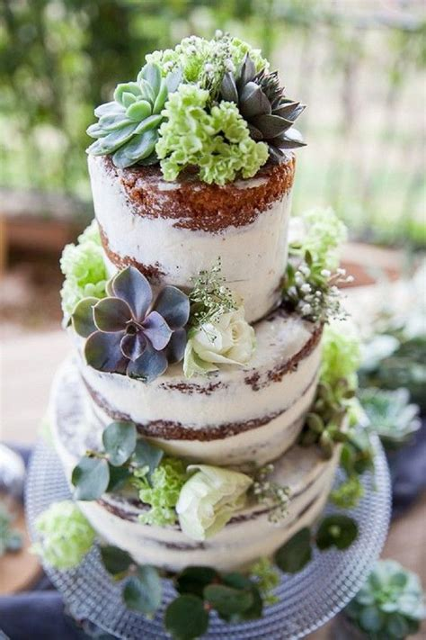 Wedding Cake With Succulents by 47 Beautiful Boho Chic Wedding Ideas Weddingomania