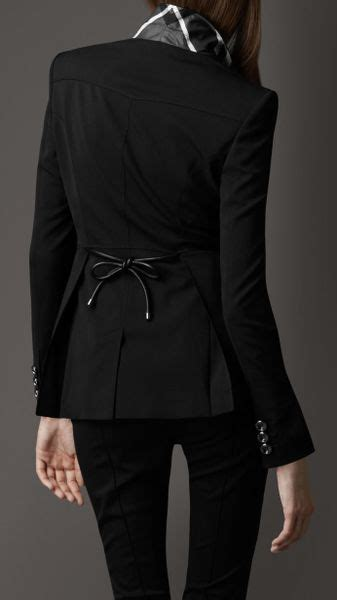 Bow Back Blazer Termurah burberry bow back structural fitted blazer in black lyst