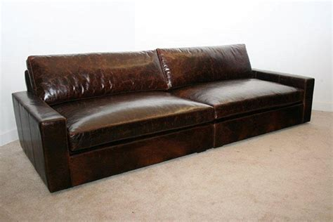 extra deep sofa leather extra deep leather sofa gentlemint