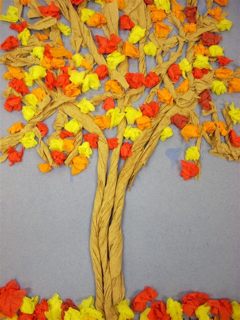 Tissue Paper Tree Craft - we totally twisted trees