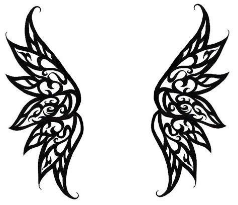 simple angel tattoo designs wings clipart free clip clipart bay