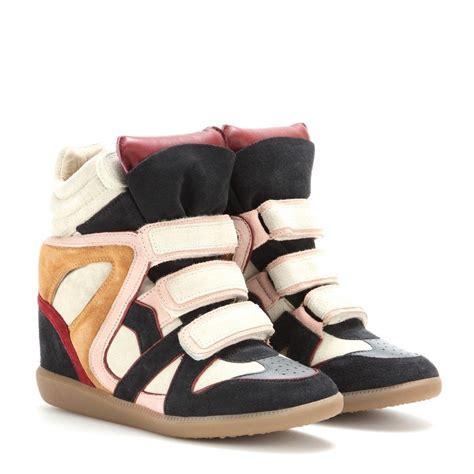Sneaker Wedges Krem wila concealed wedge suede sneakers renkli sneakers
