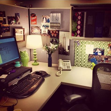 How To Decorate Office Desk Cubicle Decor I Like The Desk L Plant Wallpaper And The Owl My Cubicle Pinterest