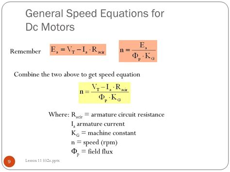 motor speed formula lesson 11 separately excited motor exles ppt