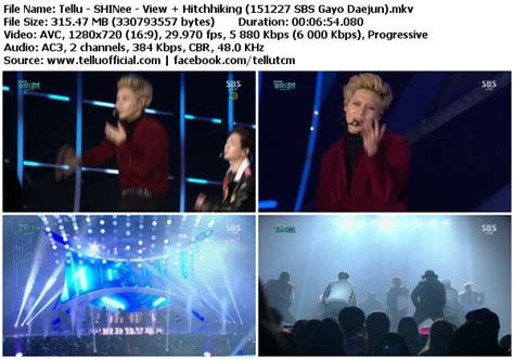 perf shinee view hitchhiking 151227 sbs gayo daejun