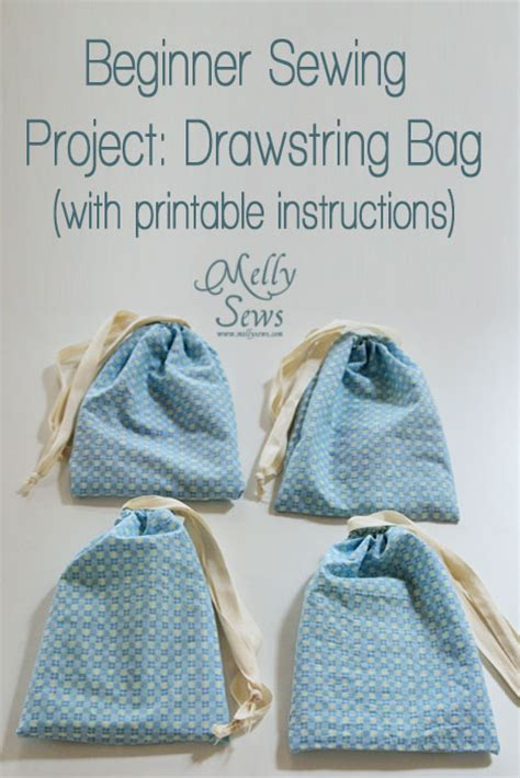 pattern for simple drawstring bag beginner sewing projects a drawstring bag tutorial