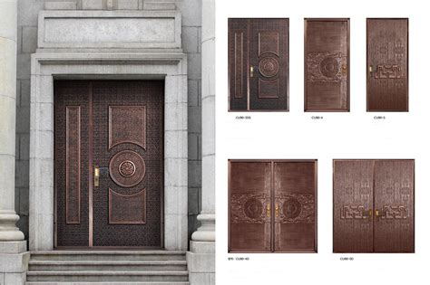 Handcrafted Doors - copper doors exterior copper doors