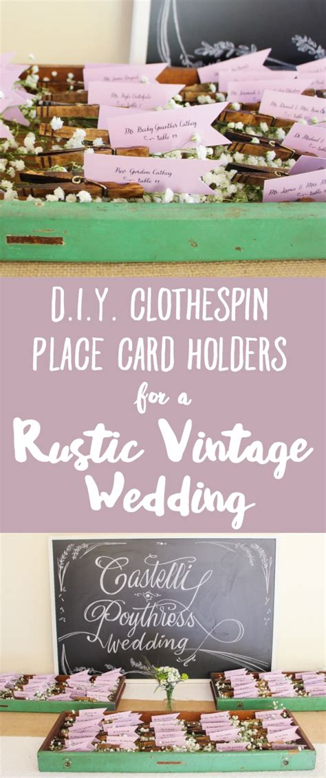 diy place card holders a bit of whimsy the culinary chase diy clothespin place card holders for a rustic vintage