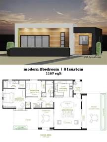 small contemporary house plans modern 2 bedroom house plan 61custom contemporary