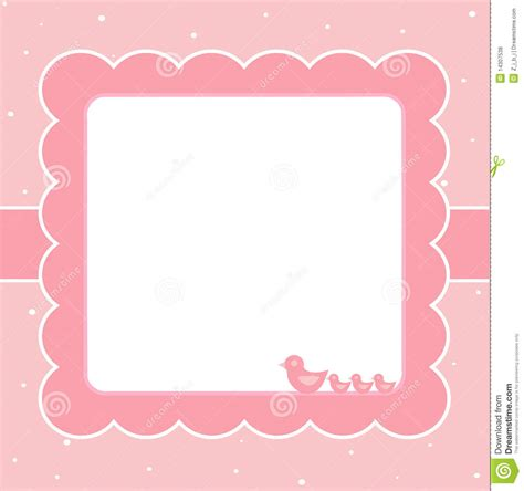 baby card templates pink baby card stock vector illustration of born message