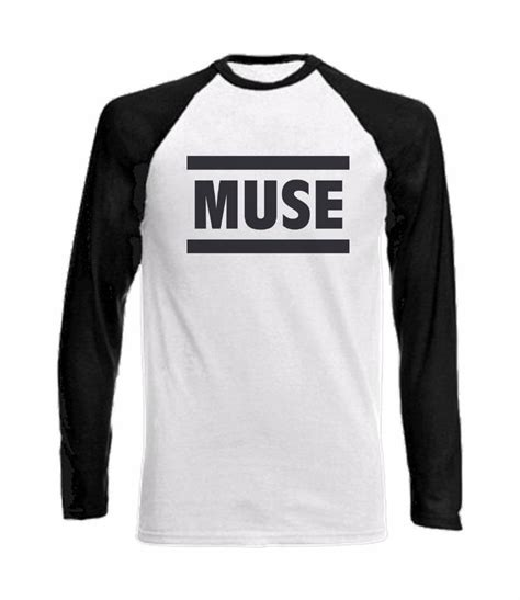 Kaos Muse Tshirt Muse Band 14 sleeve baseball t shirt with muse logo the