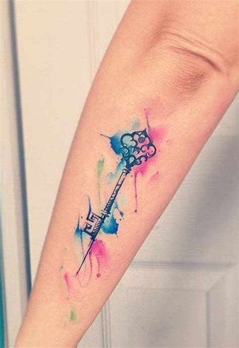 watercolor tattoo watercolor key tattoo mybodiart com