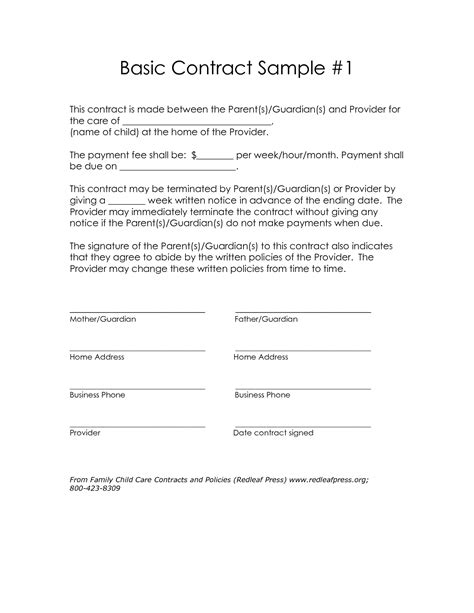 standard construction contract template simple contract template best business template