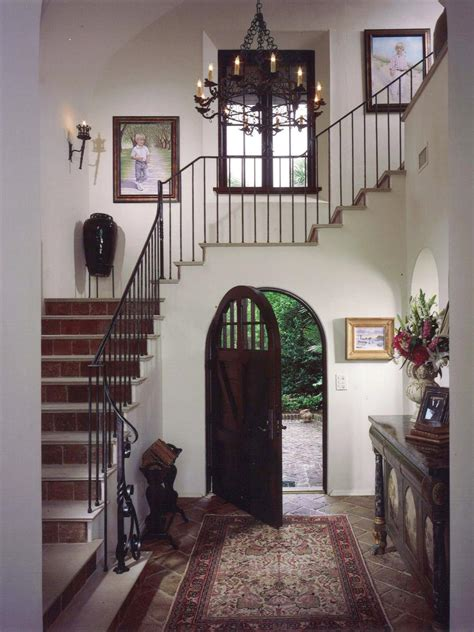 photos hgtv spanish hacienda style foyer with terra cotta tile spanish style decorating ideas hgtv