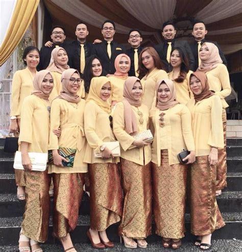 Kain Lurik Hitam Gold By Alleya contoh model baju muslim modern kebaya seragam untuk