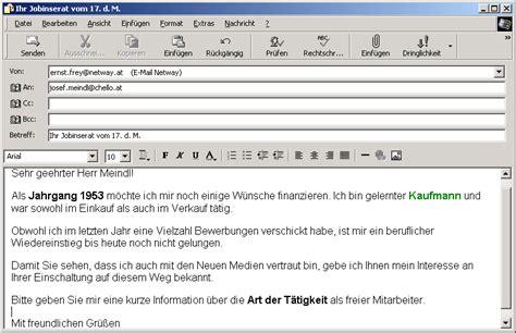 Bewerbung Per Email Anschreiben Mit Briefkopf bewerbungsschreiben per mail blackhairstylecuts