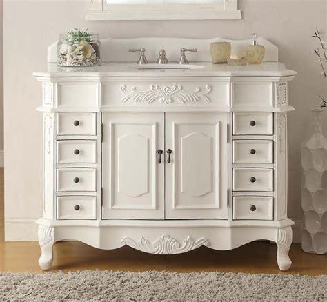 Classic Bathroom Vanities 42 Quot Benton Collection Antique White Morton Bathroom Sink Vanity Mirr 40 Plus Vanity Chans