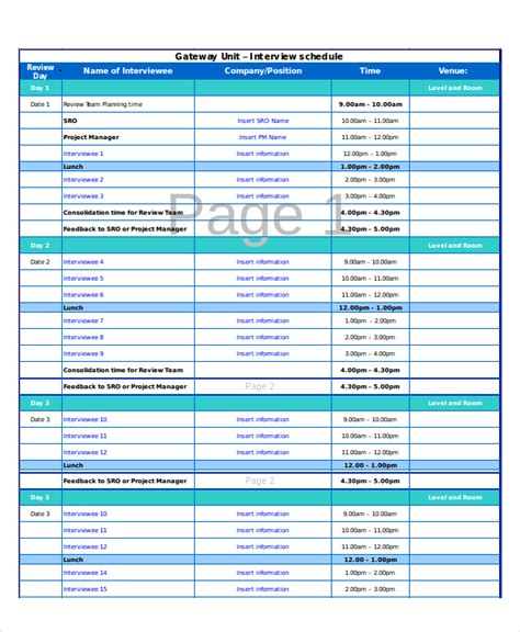 Excel Schedule Template 11 Free Pdf Word Download Document Free Premium Templates Excel Question And Answer Template