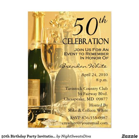 50th birthday invitation cards invitation card for 50th birthday invitation librarry