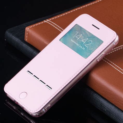 Flip Cover Iphone 55s Happymori 004 for apple iphone 7 7 plus flip pu leather cover smart window view stand