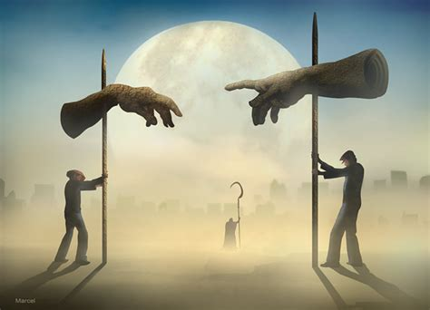 incredible surreal artworks  marcel caram thearthunters