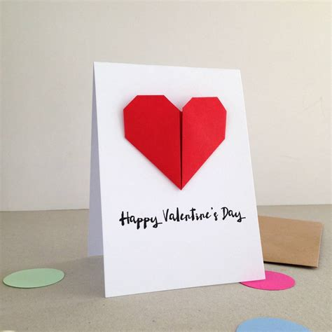 Origami Valentines Card - personalised origami valentines day card by louise