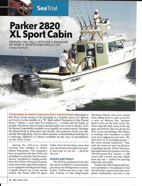 parker boats 2820 xl sport cabin 2006 parker 2820 xl sport cabin boat review specs nice