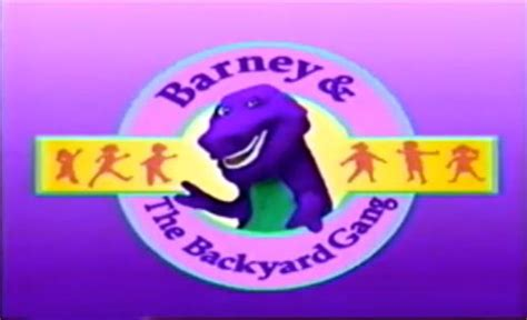 barney and friends backyard gang image barney and the backyard gang title screen jpg logopedia fandom powered by