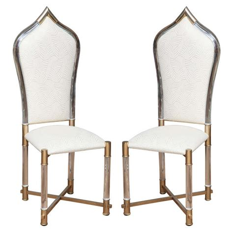 lucite dining room chairs moroccan inspired italian lucite dining chairs by pavia at