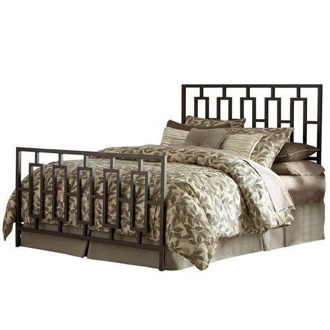 miami iron bed sleek contemporary design coffee finish
