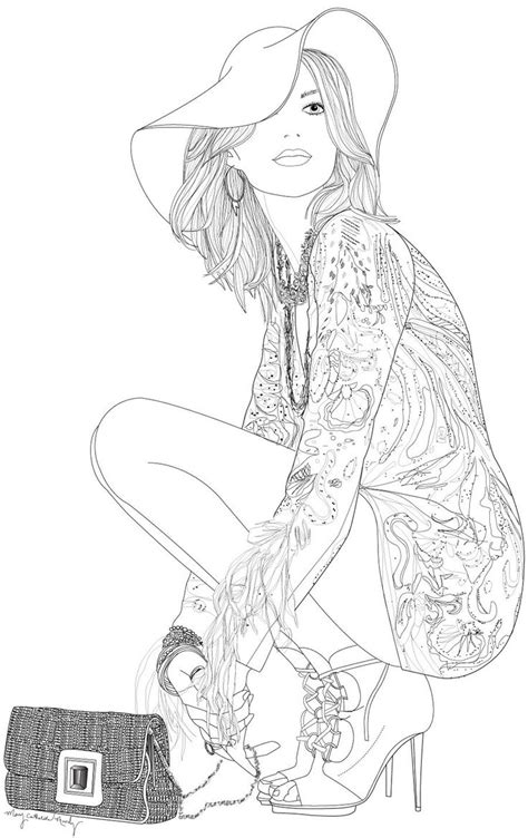 coloring pages for adults fashion 447 best coloring pages mode people images on pinterest